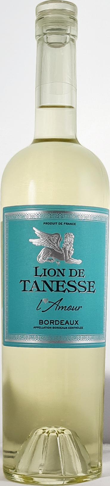 lion de tanesse vin blanc moelleux AOP bordeaux 2019