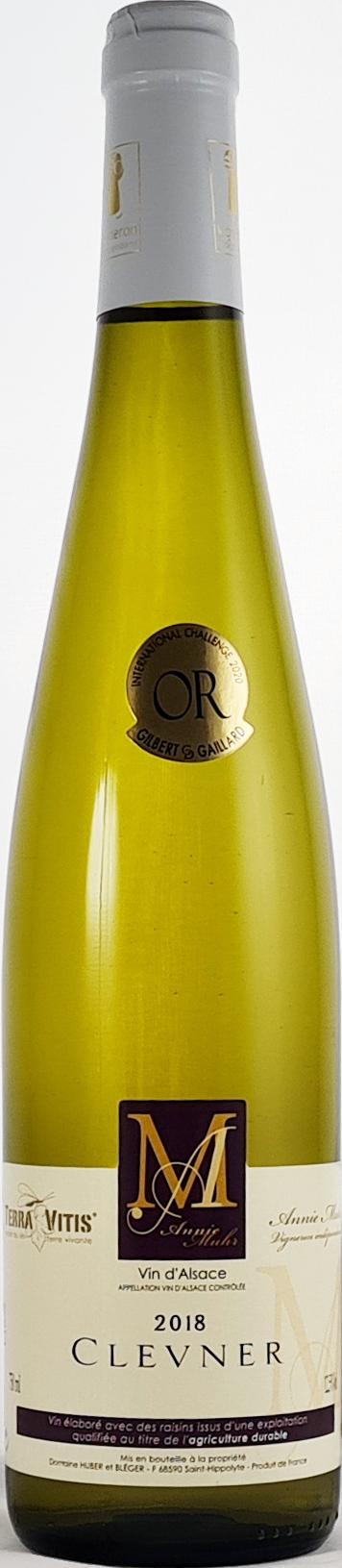 vin alsace clevener 2018 vin blanc sec